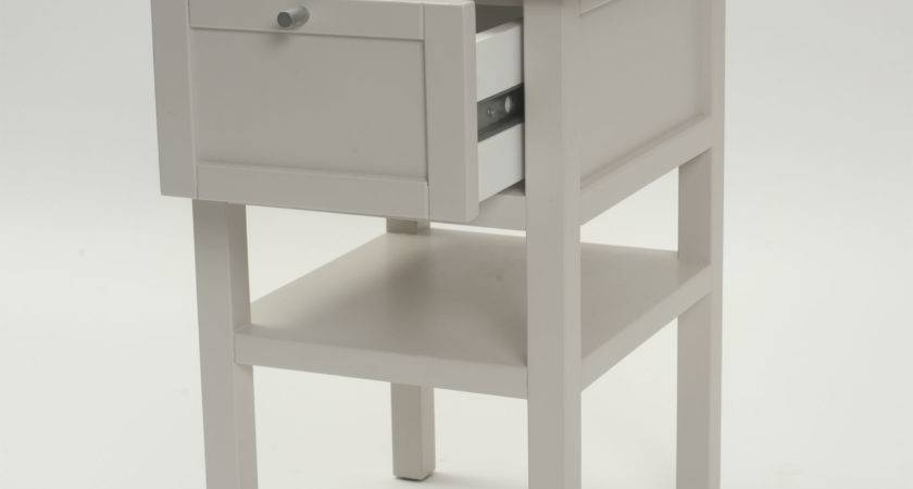 Long Island Small Bedside Table Chalk Putty Home