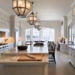 Long Kitchen Island Transitional Shope Reno