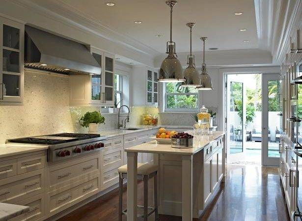 Long Kitchen Transitional Deborah Wecselman