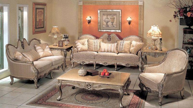 Look Luxurious Classic Living Room Set Topup
