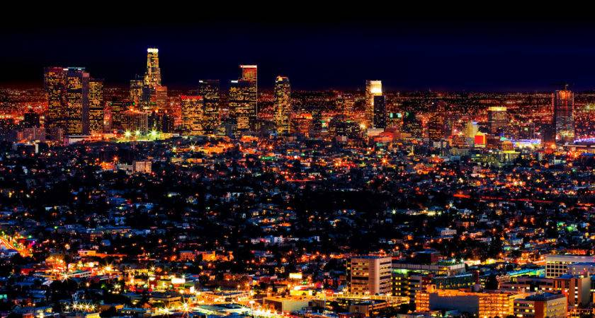 Los Angeles Nightly Light Spectacle City