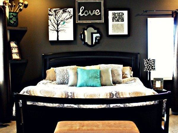 Love Black Wall Make Accent Hardwood