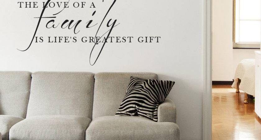 Love Gift Living Room Wall Art Decal Quote Words