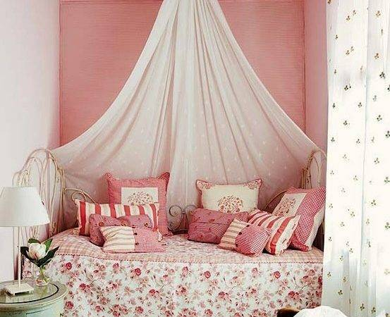 Lovely Girls Room Bed Crown Canopy Kidspace Interiors
