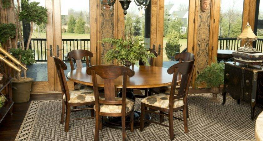 Lovely Tuscan Dining Room Interior Design Wooden