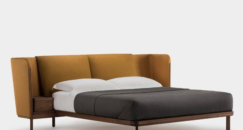 Low Dubois Bed Bedside Tables Luca Nichetto