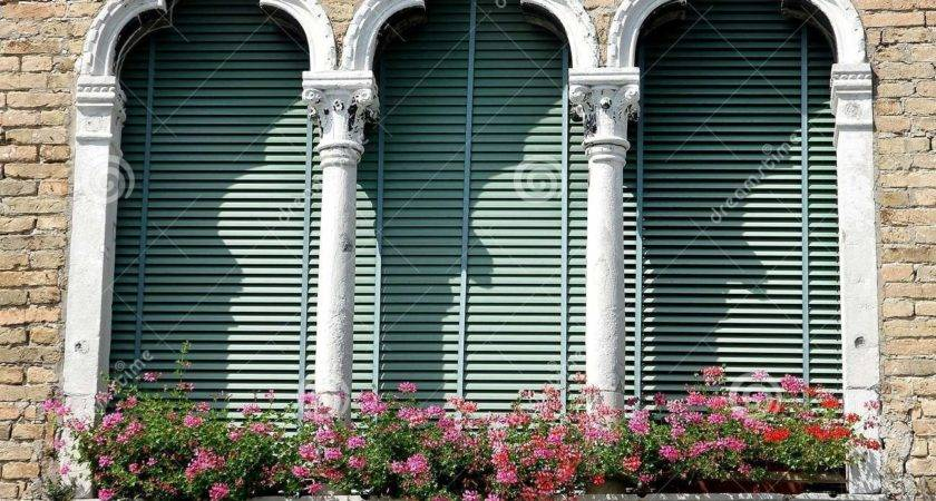Luxurious Balcony Venetian Style Arched Windows