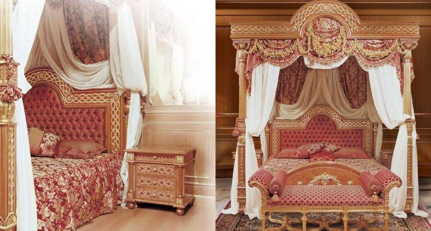 Luxurious Bed Canopy Solid Carved Wood Idfdesign