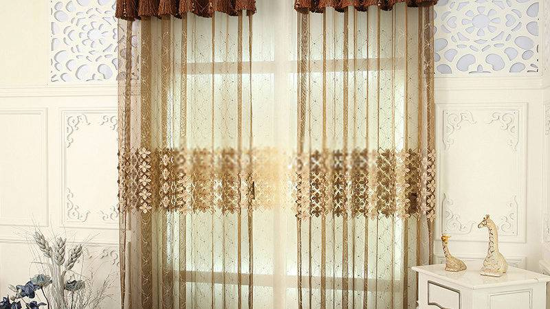 Luxurious Colored Sheer Curtains Make Surprised