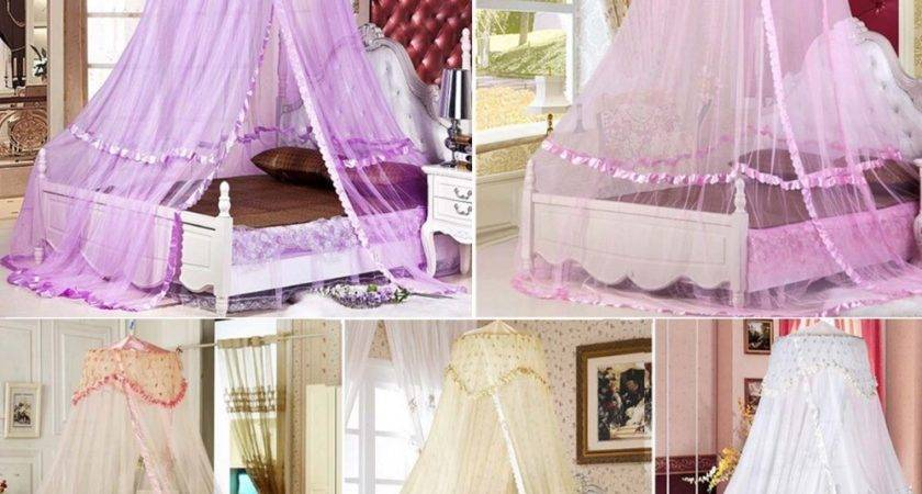 Luxury Bed Dome Canopy Lace Insect Princess
