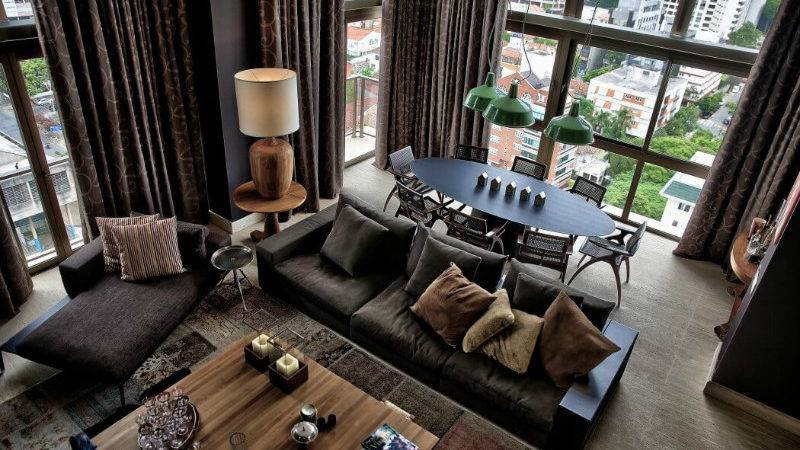Luxury Dramatic Contemporary Apartment Brazil