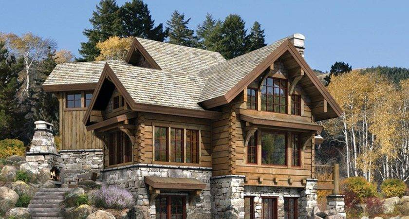 Luxury Home Designs Log Plans Natural Stone