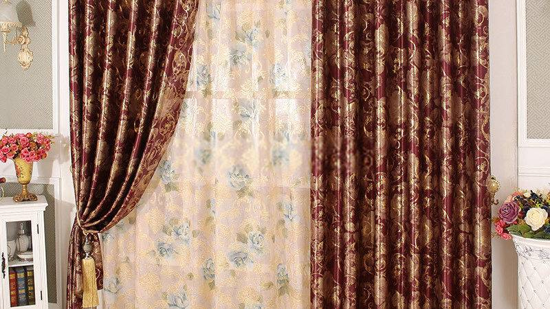 Luxury Hotel Curtains Beautiful Floral Patterns