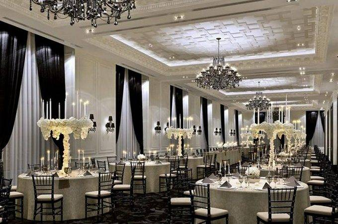 Luxury Hotel Decor Black Chandeliers