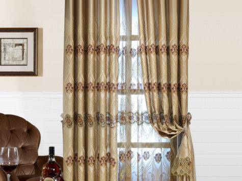 Luxury Hotel Style Curtains Patterns Embroidery