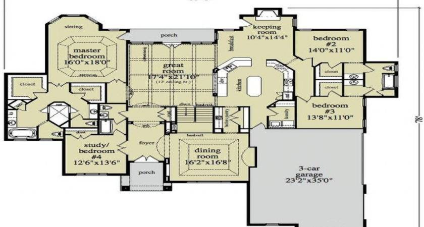 Luxury Ranch Home Floor Plans Style Plann Eeff