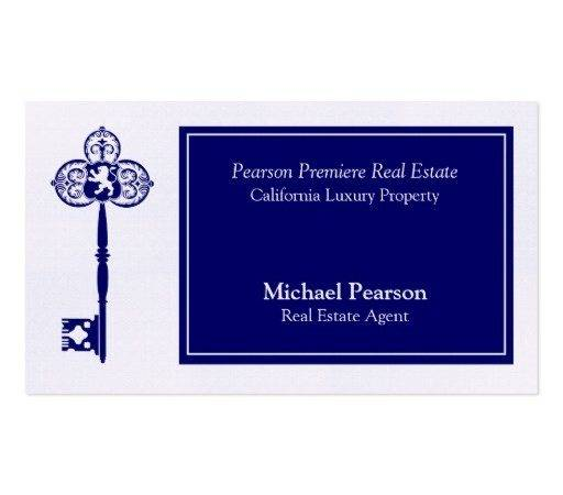 Luxury Real Estate Agent Business Card Template Zazzle
