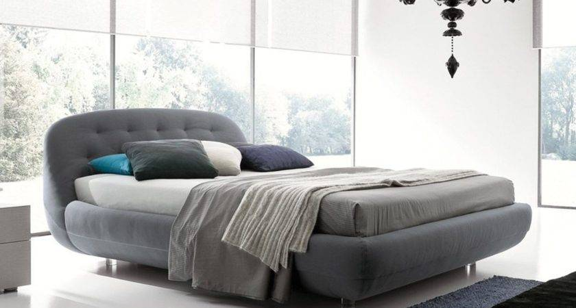 Made Italy Nano Fabric High End Platform Bed Detroit