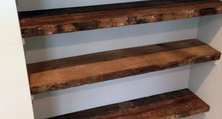 Magnificent Reclaimed Wood Shelves