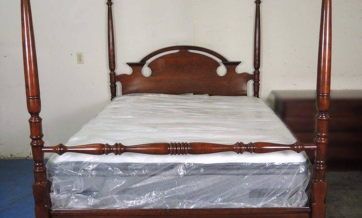 Mahogany Four Poster Queen Bed Ebth