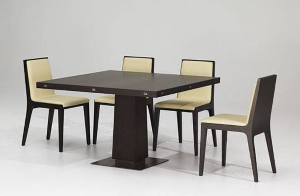 Mahogany Square Dining Table Design Interior Ideas