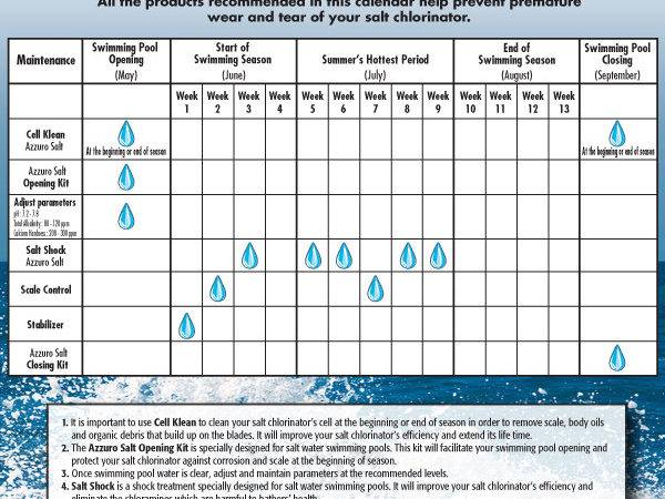 Maintenance Calendar Your Salt Water Pool