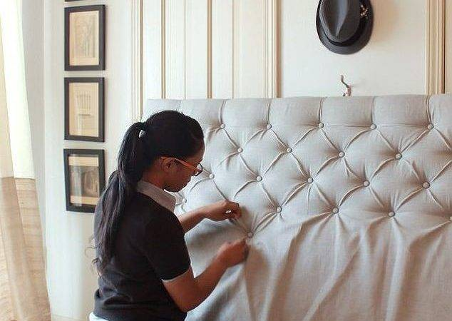 Make Sophisticated Diamond Tufted Headboard