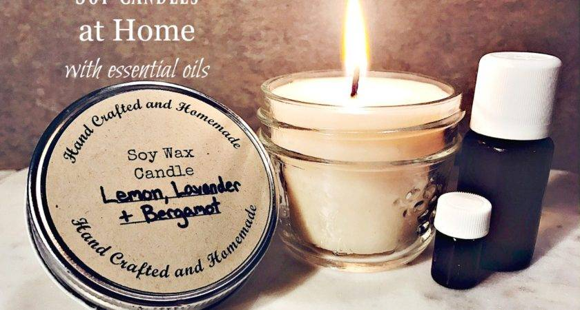 Make Soy Candles Home Essential Oils