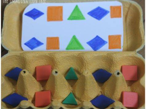 Making Patterns Lego Egg Cartons