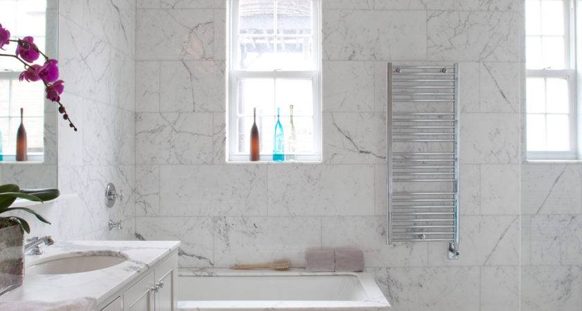 Marble Tile Countertop Bathroom Transitional All