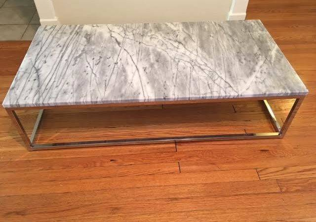Marble Top Coffee Table Chairish
