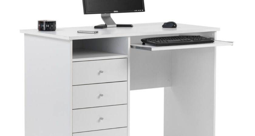 Marymount White Student Desk Next Day Delivery