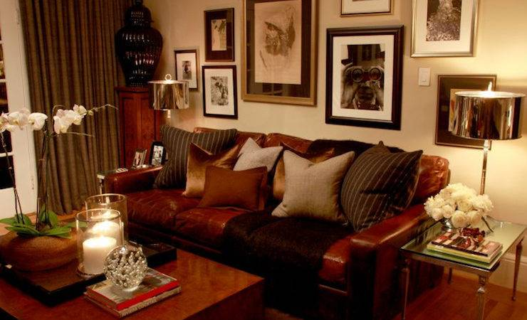 Masculine Living Room Transitional Scot