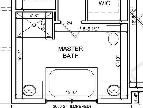 Master Bath Layout Tub Placement