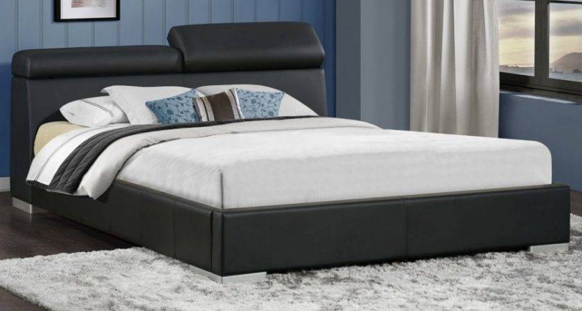 Maya King Upholstered Platform Bed Adjustable