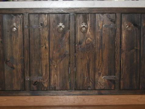 Medieval Rustic Custom Cabinets Face Frames Doors Only
