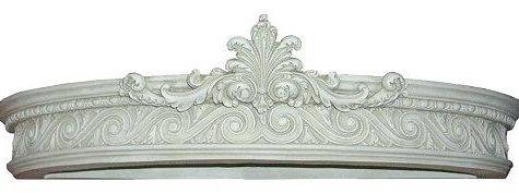 Menagerie Large Aged White Canopy Teester Bed Crown Wall