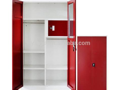 Metal Cupboard Big Wardrobe Furniture Locker Bedroom