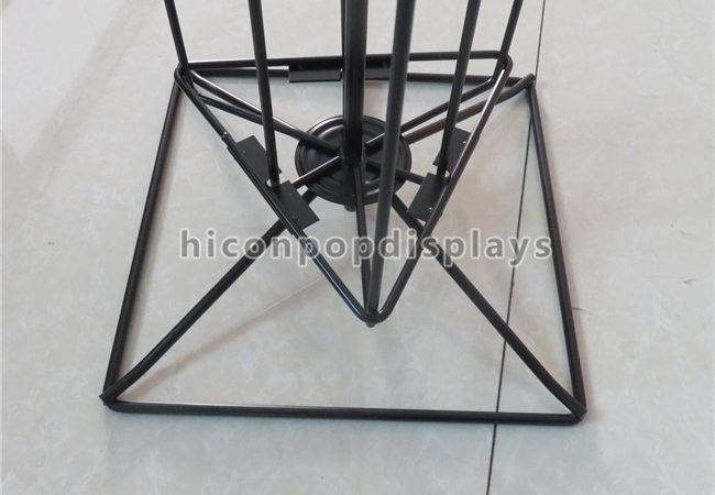 Metal Wire Flooring Display Stands Rotating Hanging