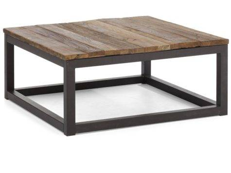 Metal Wood Table Grasscloth