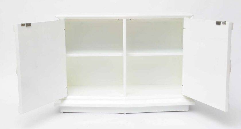 Mid Century Modern White Lacquer Cabinet Stdibs