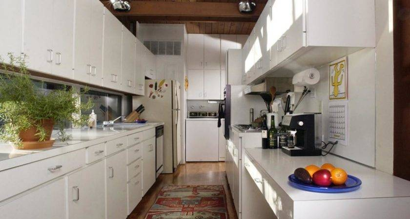 Mid Century Modern White Laminate Kitchen Countertops