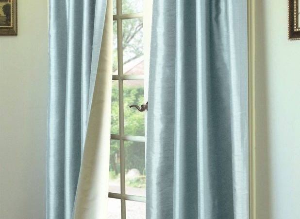 Ming Lined Thermasilk Two Ways Hang Curtain Panels Pair