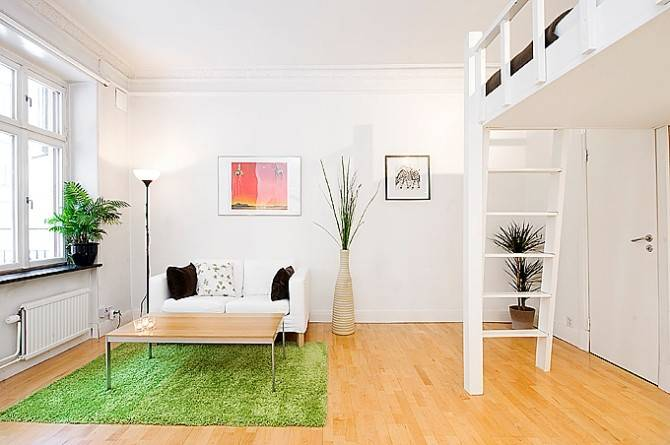 Minimalist Small Apartment Interior Design Swedish