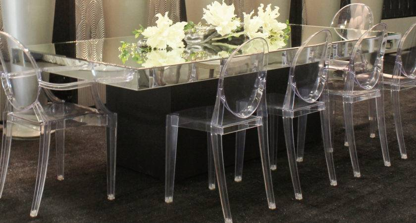 Mirror Glass Table Town Country Event Rentals