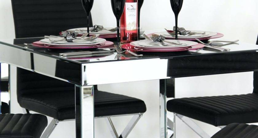 Mirrors Glass Mirror Dining Table Mirrored