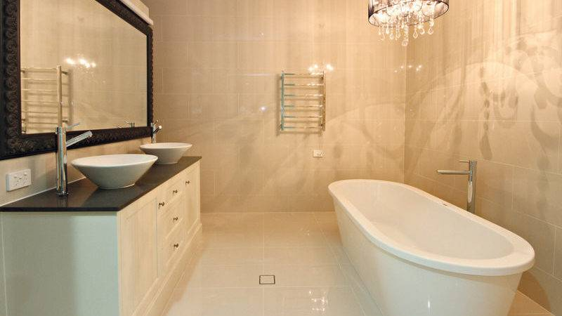 Modern Bathroom Design Freestanding Bath Using Marble