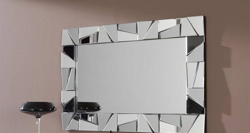 Modern Bathroom Wall Mirrors Metal Artwork
