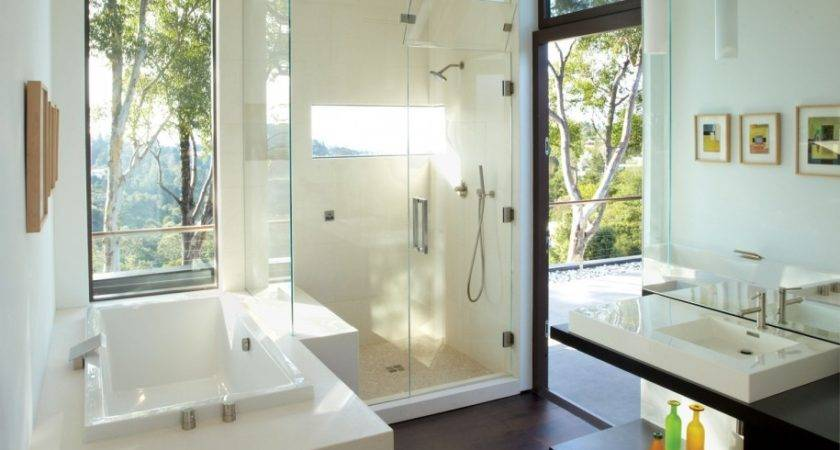Modern Bathrooms Glass Showers