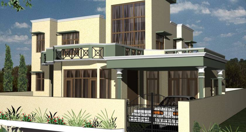 Modern Beautiful Duplex House Design Home Elements